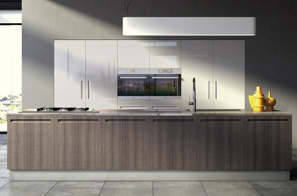 Campiglio cucine moderne funzionali – lineari con isola maniglie ...
