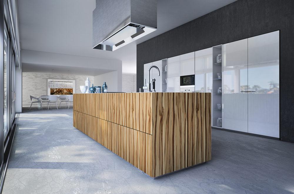 Monolite cucine essenziali – cucina in legno penisola a sbalzo ...